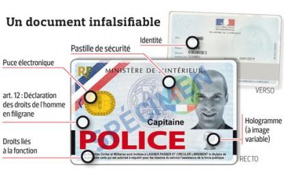 A quoi ressemble une carte professionnelle de police ?